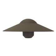 Universal Lighting System China Hat Shade - Architectural Bronze