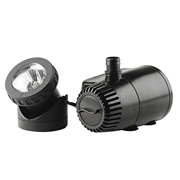 Pond Boss 140 GPH Fountain Pump with Auto Shut Off and LED Light