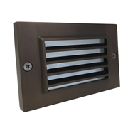Universal Lighting Systems Louvered Step Light - Weathered Brass