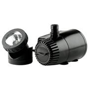 Pond Boss 420 GPH Fountain Pump with Auto Shut Off and LED Light