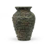 """Mini Stacked Slate Urn Fountain 18.5"""""""