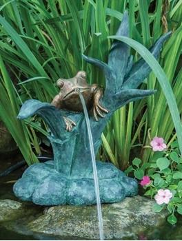 Aquascape Frog Reed Spitter w/ Pump