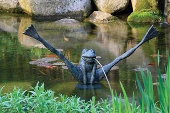 Aquascape Crazy Legs Frog Spitter w/ Pump