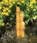 Aquascape Pouring Three-Tier Bamboo Fountain W/ Pump