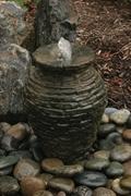 "Aquascape Mini Stacked Slate Urn Fountain Kit 18.5"""