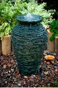 """Aquascape Small Stacked Urn Fountain Kit 32"""" w/ DecoBasin & Pump"""