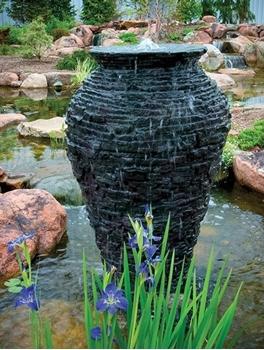 "Aquascape Medium Stacked Slate Urn 45"""