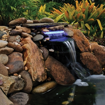 OASE Lighted Waterfall with Blue LED 12 in Spillway