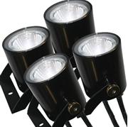Kasco Marine WaterGlow 19W Stainless Steel LED 4-Light Kit
