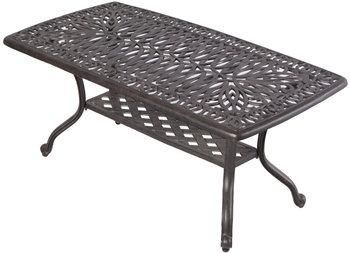 "Alfresco Kaleidoscope 42"" Rectangular Cast Aluminum Coffee Table"
