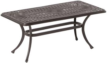 """Alfresco Florentine 42"""" Rectangular Cast Aluminum Coffee Table"""