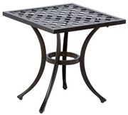 "Alfresco Weave 21"" Square Cast Aluminum Side Table"