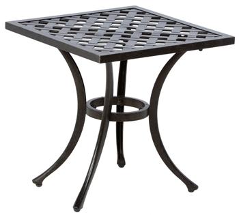 "Alfresco Weave 21"" Square Cast Aluminum Side Table"