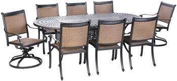 Alfresco Pilot All Weather Wicker Dining Set