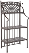 Alfresco Cast Aluminum Weave Outdoor Bakers Rack - Antique Topaz Finish