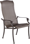 Alfresco Barbados High Back All Weather Wicker Stackable Dining Chairs