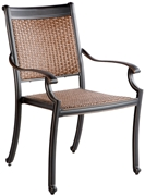 Alfresco Pilot All Weather Wicker Stackable Dining Arm Chairs