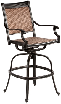 Alfresco Pilot All Weather Wicker Swivel Bar Arm Chairs