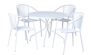 Alfresco Martini Café Dining Set With Table And 4 Chairs-Bianca Finish