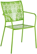 Alfresco Martini Stackable Bistro Chair In Key Lime Green - Set Of 2