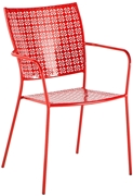 Alfresco Martini Stackable Bistro Chair In Cherry Pie Red - Set Of 2