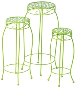Alfresco Martini Plant Stands In Key Lime Green - Set Of 3