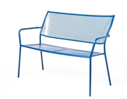 Alfresco Martini Garden Bench Etta Blue Finish
