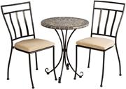 "Alfresco Vulcano Mosaic 3 Piece Bistro Set With 24"" Round Bistro Table And 2 Bistro Chairs"