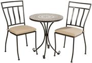 "Alfresco Tremiti Mosaic 3 Piece Bistro Set With 24"" Round Bistro Table And 2 Bistro Chairs"