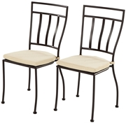 Alfresco Semplice Bistro Chairs In Charcoal Finish With Cushion 2 Chairs