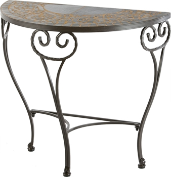 Alfresco Vulcano Ceramic Half Moon Console