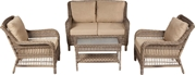 Cotswold All Weather Wicker Deep Seating Conversation Set with Cushions