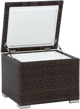 Alfresco Universal All Weather Wicker Cooler Aluminum Frame Artisan Roast Finish