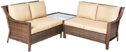 Alfresco Logan All Weather Wicker Deep Seating Sectional Set with Cushions