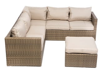 Alfresco La Palma All Weather Wicker Deep Seating Sectional Set with Cushions
