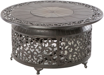 """Alfresco Bellagio 48"""" Round Cast Aluminum Gas Fire Pit/Chat Table With Burner Kit"""