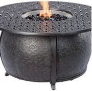 "Alfresco Margherita 48"" Round Cast Aluminum Gas Fire Pit/Chat Table with Burner Kit"
