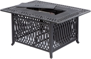 "Alfresco Pescara 50"" X 34"" Rectangular Cast Aluminum Gas Fire Pit/Chat Table With Burner Kit"