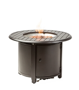 "Alfresco Bay Ridge 36"" Round Gas Fire Pit/Chat Table with Burner Kit"