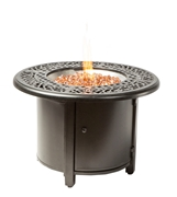 "Alfresco Kinsale 36"" Round Gas Fire Pit/Chat Table with Burner Kit"