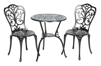 Alfresco Triora Cast Aluminum Bistro Set in Blacksmith Finish