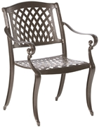 Alfresco Westbury Cast Aluminum Stacking Dining Arm Chairs - Set Of 4