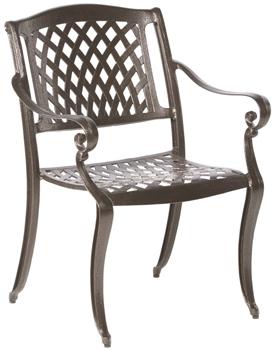 Alfresco Westbury Cast Aluminum Stacking Dining Arm Chairs - Set Of 4