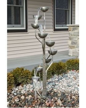 Harmony Springs Stainless Steel Cup Fountain