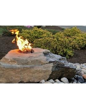 AquaBella Fire & Water Boulder Fountain Kit