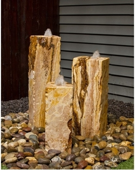 AquaBella Travertine Triple Fountain Kit