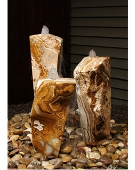 AquaBella Triple Grand Canyon Red Onyx Fountain Kit