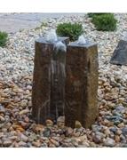 "AquaBella 2 Piece Split Polished Basalt Fountain Kit- 24""H"