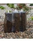 "AquaBella 3 Piece Split Polished Basalt Fountain Kit- 24""h"