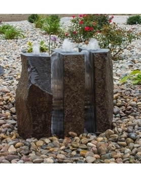 AquaBella 3 Piece Split Polished Basalt Fountain Kit